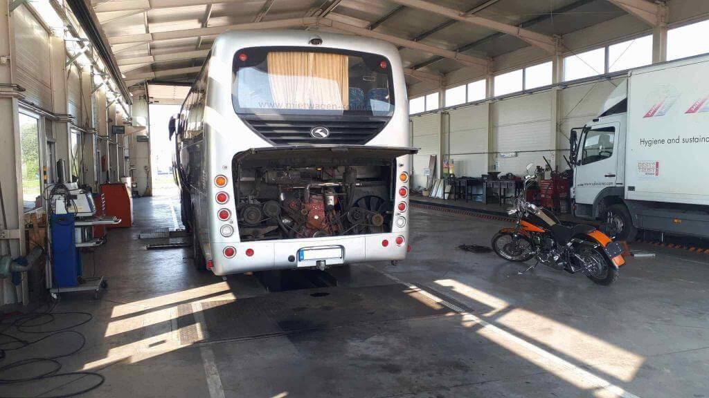Szombathelyi műszaki vizsga autóbusz