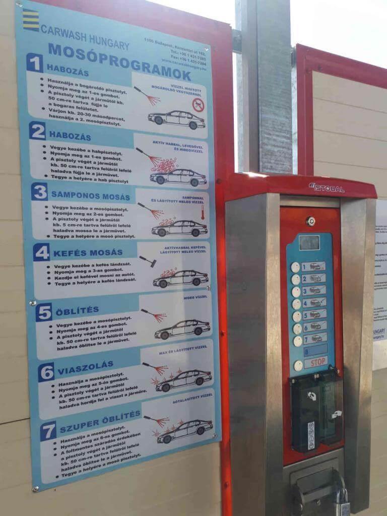 Hét programos autómosó a Magyar benzinkúton